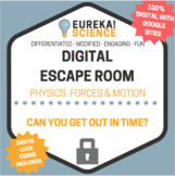 100% DIGITAL Forces and Motion Escape Room - Physics Break