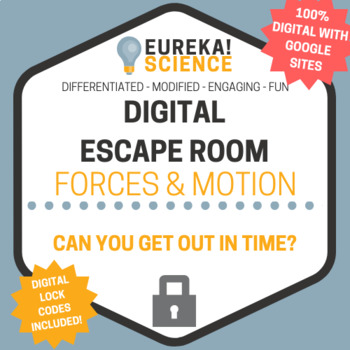 100% DIGITAL Forces and Motion Escape Room - Physics Breakout Room