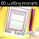 100 DIGITAL Writing Prompts | Distance Learning