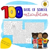 100 DOTS of School Articulation for Speech Therapy