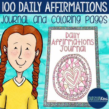 Daily Affirmations Self Esteem Journal And Coloring Pages
