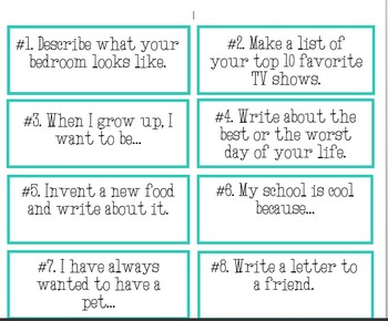 100 Daily Creative Writing Prompts