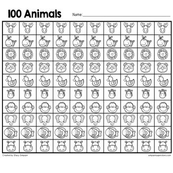 100th Day of School ~ Math, ELA and Craft Activities