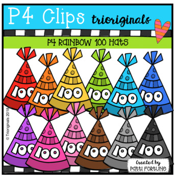 100 Day Celebration Hats (P4 Clips Trioriginals)