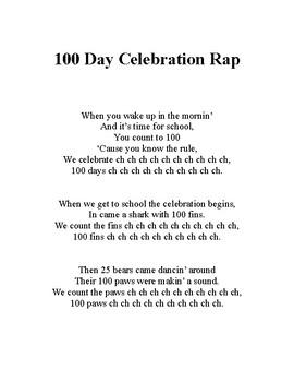 100 Day Celebration Rap