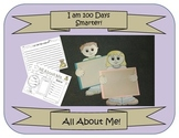 All About Me Worksheet/ Boy and Girl Pattern(100 Day, back to school craft)