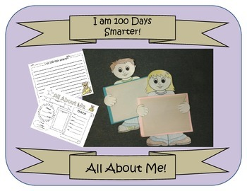 All About Me Worksheet/ Boy and Girl Pattern(100 Day, back