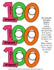 100th Day Early Emergent Reader; 2 Versions PLUS Word & Pic Cards & 100 Glasses!