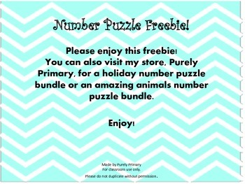 100 Day Number Puzzle Freebie