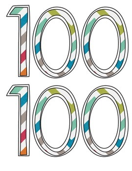 100 Day Glasses Photo Prop