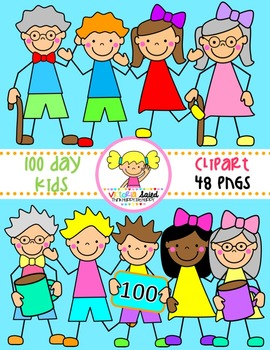 100 Day Kids Clipart