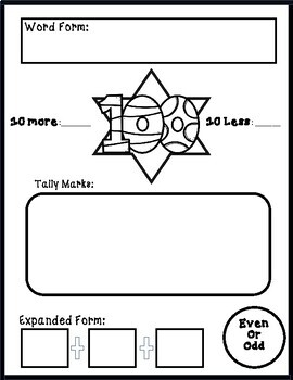 100 Day Math and language arts activities for K-2