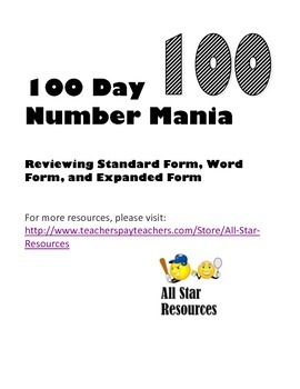 100 Day Number Mania