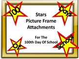 100th Day Of School Picture Frame Attachments Stars and Banner