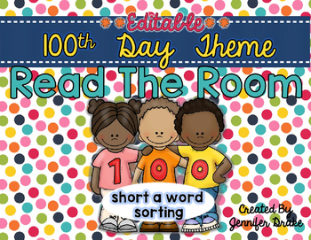 100 Day Read the Room **EDITABLE**
