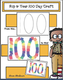 "Free 10 Day Craft: 100 Day ""Rip & Tear"" Craftivity"