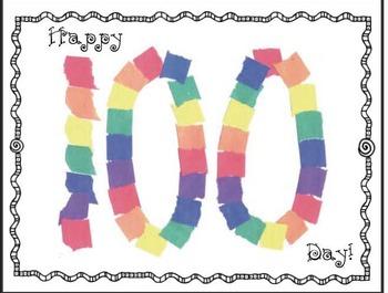 "Free 100 Day Craft: 100 Day ""Rip & Tear"" Craftivity"