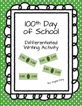 100 Day Writing: Differentiated Activity