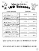 100th Day of School Booklet