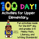 100 Day of School Activities Upper Grades!