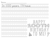 100 Day of School Activity- Happy 100th Birthday to me