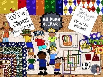 100 Day of School Clip Art