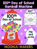 100 Days of School Gumball Machine - Moonju Makers, Craft, Decor, Activity