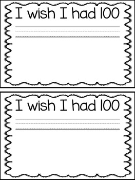 100 Day of School Writing Activity