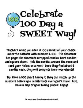 100 Day the Sweet Way **Freebie!**