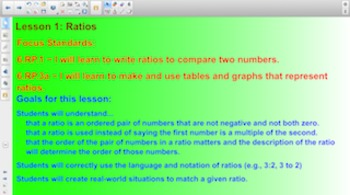 Engage NY 6th Grade Math Module 1 Topic A Lesson 1 for Smartboards