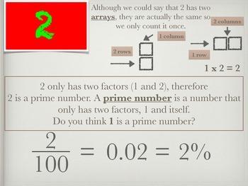 100 Days: A Math Journey Exploring Factors & Multiples (pdf Version)