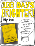 100 Days Brighter!  100th Day of School Flip Book! Printable!
