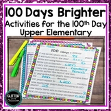 100th Day of School-100 Days Brighter-Activities for Upper