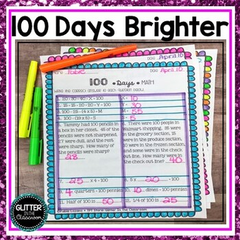 100 Days Brighter - Activities for Upper Elementary - 100th Day Of School