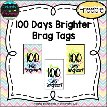 100 Days Brighter Brag Tags {Freebie!}