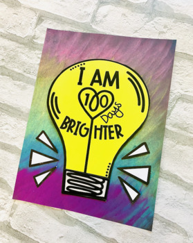 100 Days Brighter | Light Bulb Craft and Writing