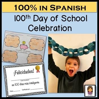 100 Days Celebration in Spanish Elementary