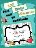 100 Days Certificate