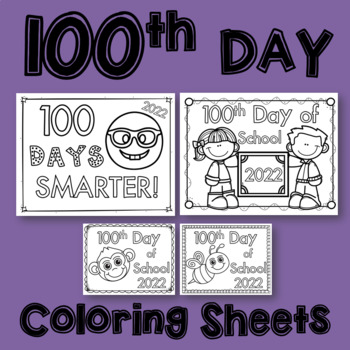 100 Day Coloring Sheet Teaching Resources | Teachers Pay Teachers