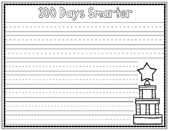 100 Days Crown and Journal Writing Packet