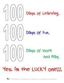 100 Days Of School -  Sample Packet