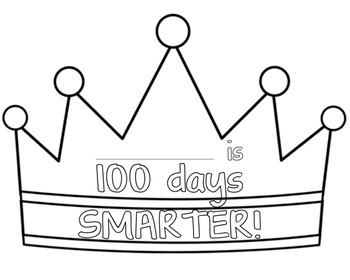 100 Days Of School Crown by Kids and Coffee | Teachers Pay Teachers