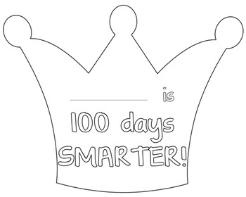 100 Days Of School Crown Teaching Resources | Teachers Pay Teachers