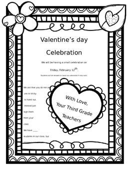 100 Days Project (Editable) with Rubric and Valentines handout