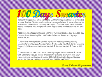 100 Days Smarter Activity Pack
