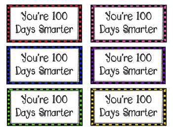 100 Days Smarter Activity Pack FREEBIE