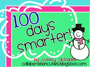 100 Days Smarter Banner {100th Day of School}