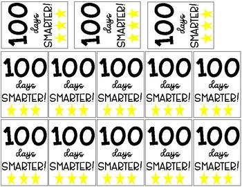 100 Days Smarter Brag Tags