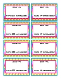 100 Days Smarter-Candy Smarties Tags