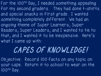 100 Days Smarter!  Capes of Knowledge